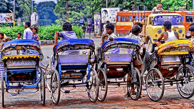 Stand By Rickshaws
