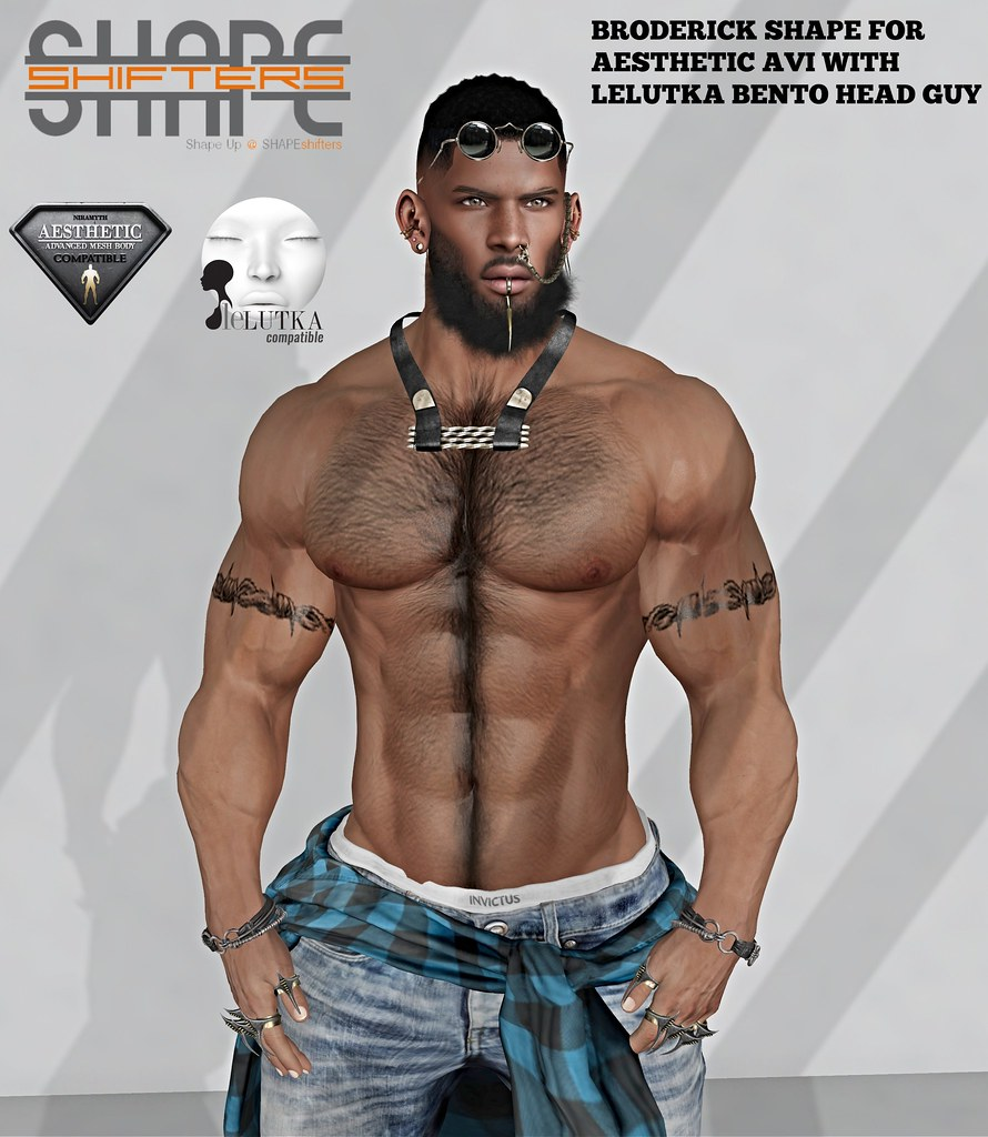 [SHAPEshifters] BRODERICK SHAPE FOR AESTHETIC AVI WITH LELUTKA BENTO HEAD GUY (3) - TeleportHub.com Live!