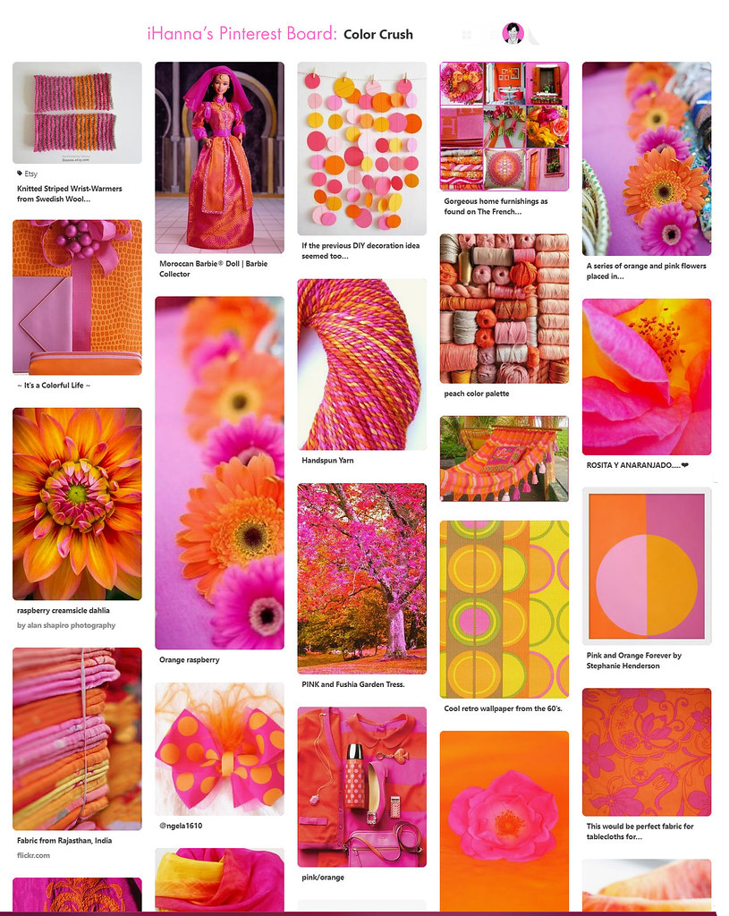 Visit and follow my Pinterest board Color crush: Pink & orange - collected by iHanna