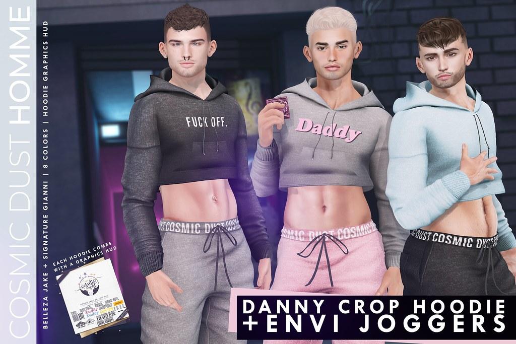 [Cosmic Dust] – Danny Crop Hoodie + Envi Joggers @ TMD