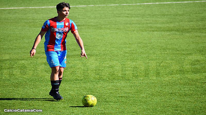 Enrico Giannone, capitano dell'Under 15, autore del gol della vittoria sul Monopoli
