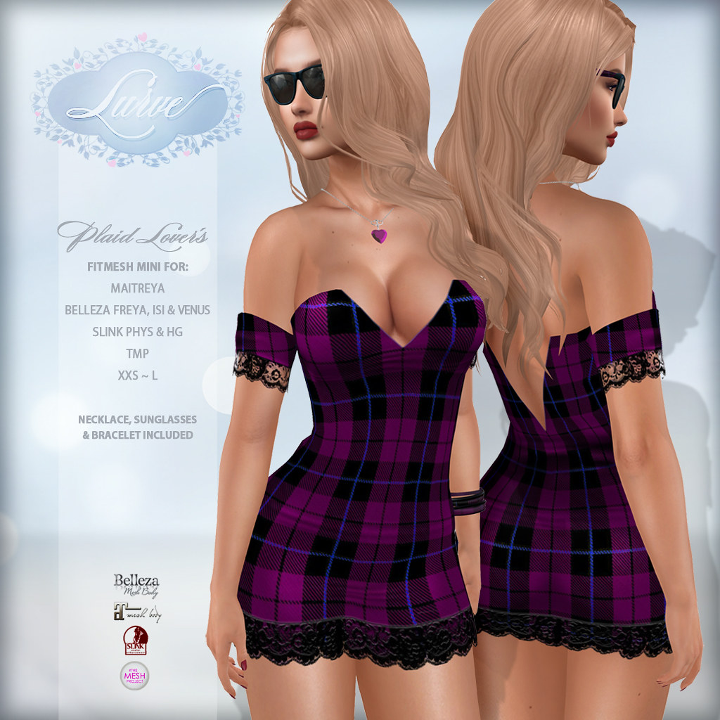 *Lurve* Plaid Lover's Mini in Violet