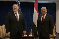 Secretary Pompeo Meets With Yemeni Foreign Minister al-Yamani in Warsaw