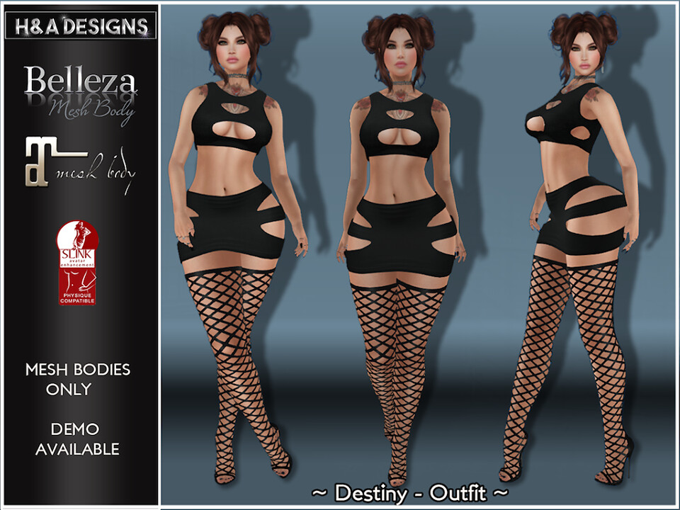 [H&A Designs]-Destiny Outfit Black