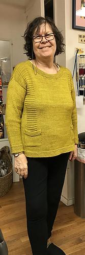 Pintbarb's Ceilidh knit using Malabrigo Dos Tierras