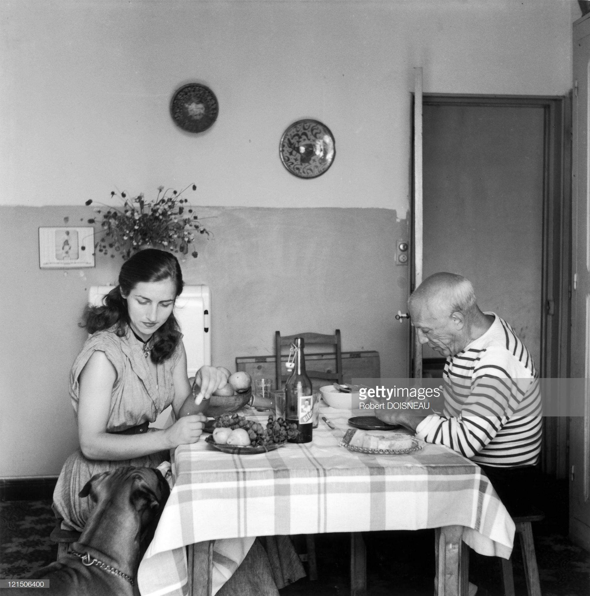 1952. Пабло Пикассо и Франсуаза Жило (французская художница и график)