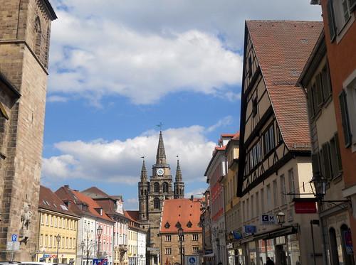 Platz in Ansbach