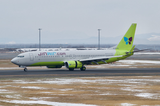 Boeing 737-8SH | HL8016 | LJ/JNA | 2018/12/23 @ RJCC/CTS