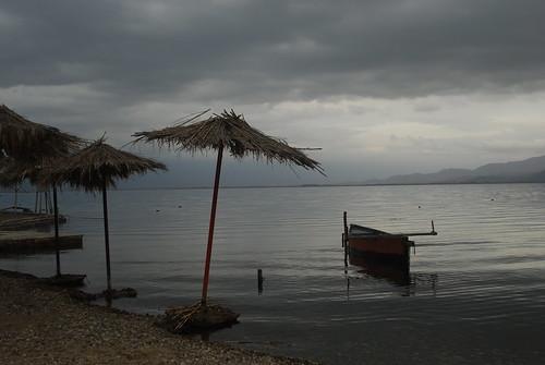 dojran lake macedonia macedonian beach boat beautiful nature winter cloud cloudy weather unique tourism visitmacedonia