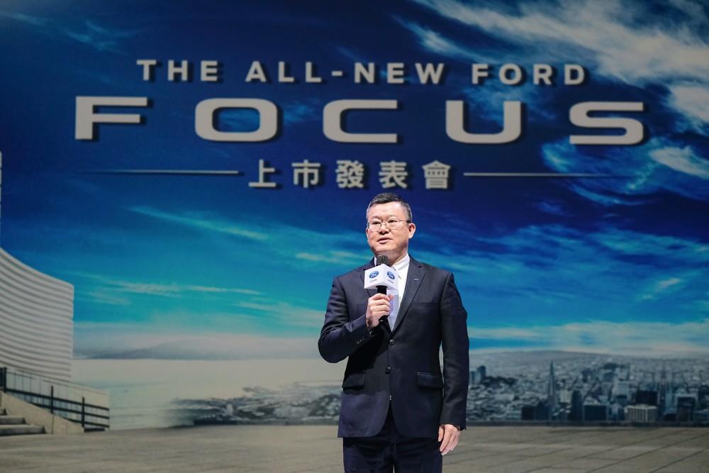 【圖二】福特六和總裁朱忠園宣布Level 2智駕中型跑房車The All-New Ford Focus正式在台上市。