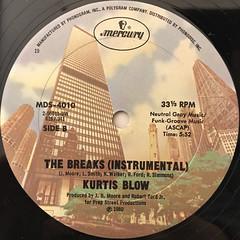 KURTIS BLOW:THE BREAKS(LABEL SIDE-B)