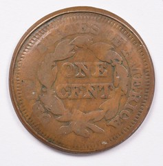 1851 large cent error reverse