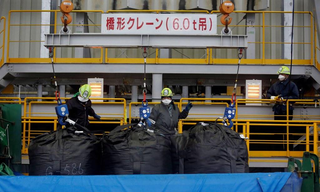 工人於大熊町進行除污作業。(圖片來源:Issei Kato/Reuters)