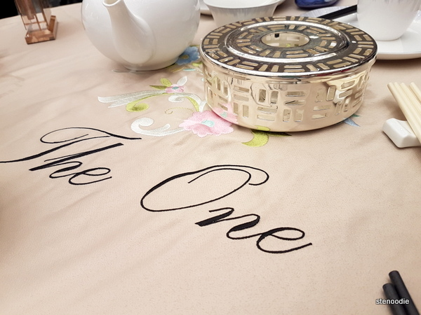 The One Fusion Cuisine tablecloth