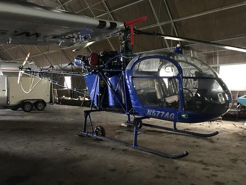 N577AG, Sud Aviation Alouette II  SE.3130 (1666), Kilrush 24th March 2019