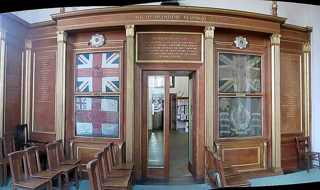 Memorial Wall in St Chad's, Shrewsbury