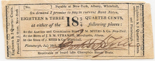 Albany NY 18 and three-qurter cent note