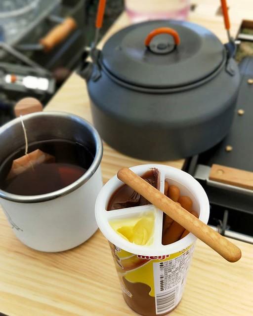 20190228 下午茶 #歐北露 #campinglife #ilovecamping #truvii #GSI #tablextwo