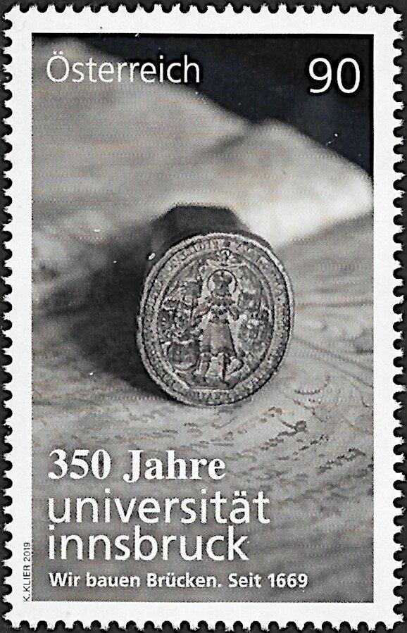 Austria - 350th Anniversary of Innsbruck University (January 25, 2019)