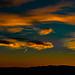 A Sunset over the mountain range of Madrid with contrails of Aircraft......., Un Atardecer sobre la Sierra Madrileña con estelas de Aviones....... by Jörg Kaftan