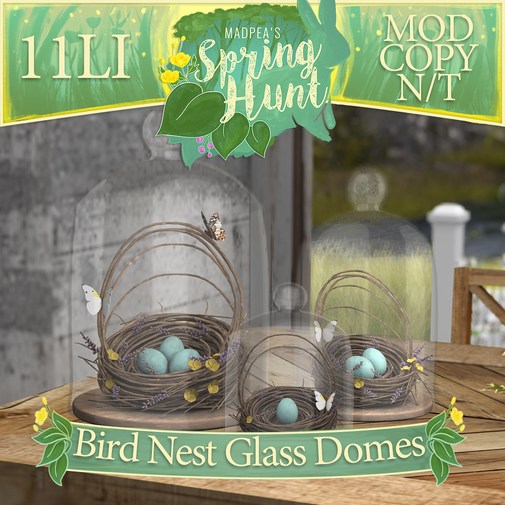 MadPea Spring Hunt – Bird Nest Glass Domes!
