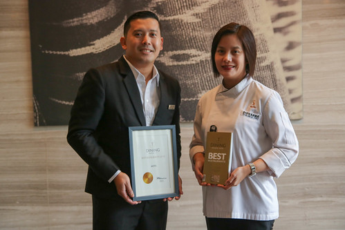 Asst. F&B Manager Jules Melencion and Executive Sous Chef Giovanna Sibala