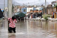 Frontera con el Ecuador: distritos inundados