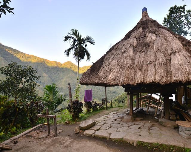 Nuestro alojamiento en Batad