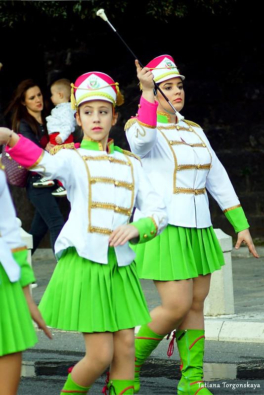 Мажоретки на Которском карнавале 2019