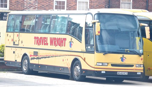 W648 RCG 'Travel Wright'. Dennis Javelin / Berkhof Axial on Dennis Basford's railsroadsrunways.blogspot.co.uk'