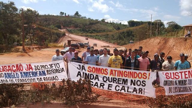 Moradores temem barragem da Anglo American e exigem reassentamento