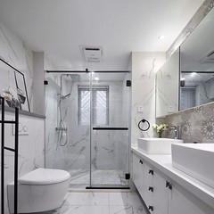 contemporary bathroom design, modern bathroom decorating idea
