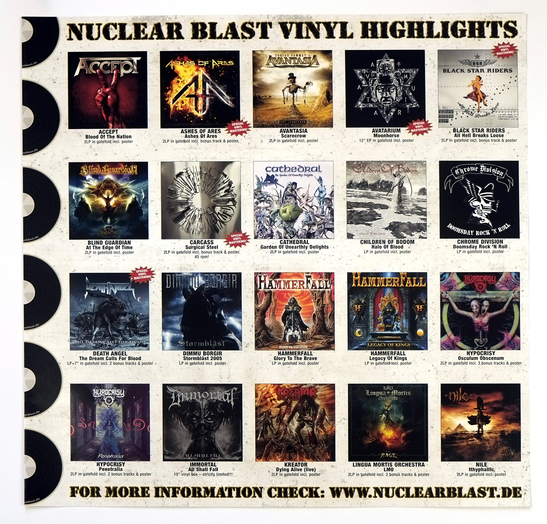 KREATOR Dyling Alive Yellow Vinyl