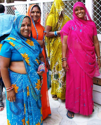 Indian women wearing their gorgeous saris. From an exceprt from Only in India: Adventures of an International Educator