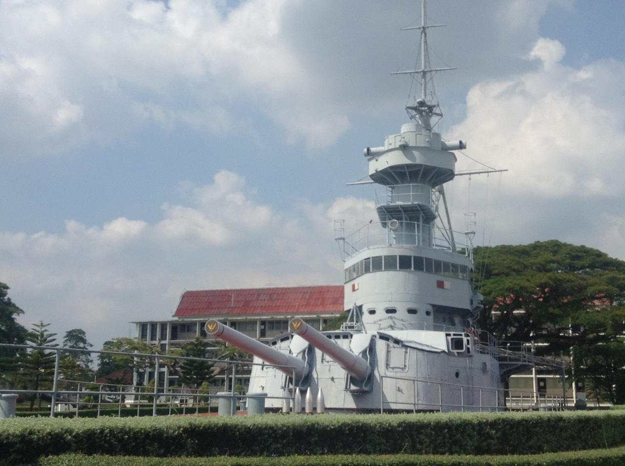 HTMS Thonburi Memorial, Royal Thai Naval Academy, Samut Prakan, Thailand. Photo taken on December 5, 2015.