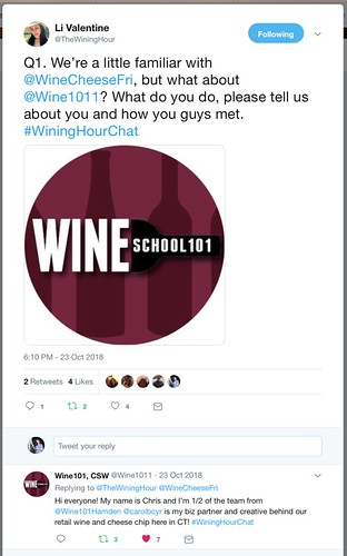 Wining Hour Chat with Wine101Hamden Question 1