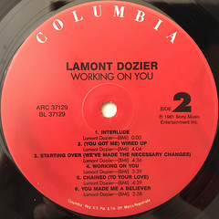 LAMONT DOZIER:WORKING ON YOU(LABEL SIDE-B)
