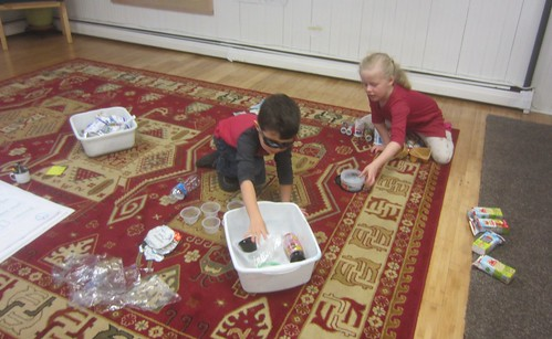 sorting and counting recyclables