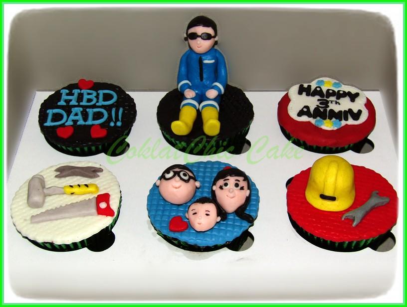Cupcake set dad