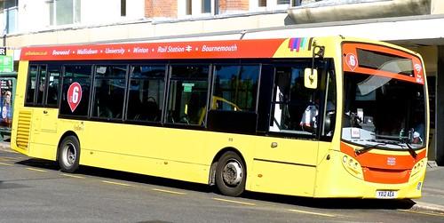 YX12 AEA 'Yellow Buses' No. 519 'red 6'. Alexander Dennis Ltd. (ADL) E20D / 'ADL' Enviro 200 on Dennis Basford's railsroadsrunways.blogspot.co.uk'