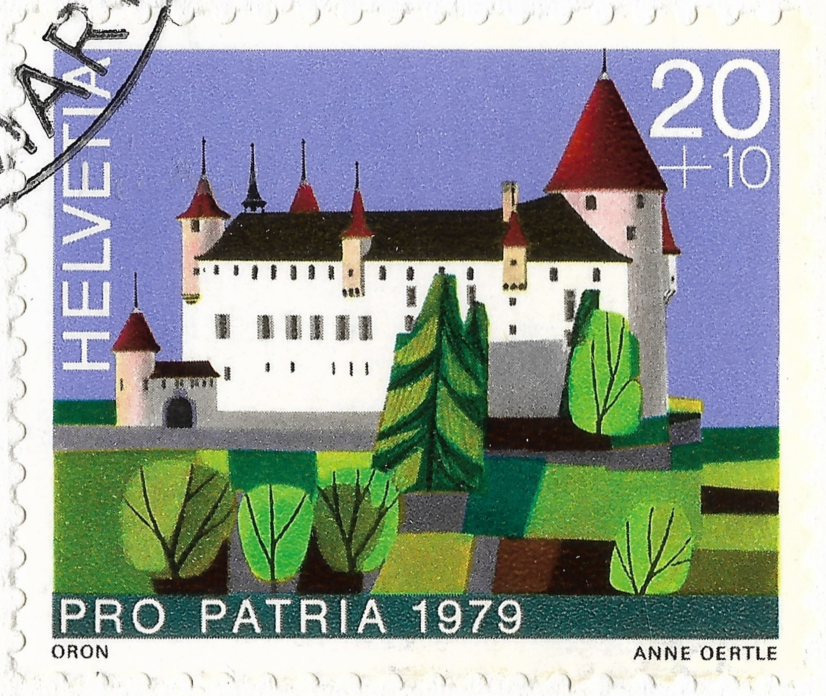 Switzerland - Scott #B463 (1979) Oron Castle