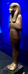 Statuette en bois dorée de Sened sur socle avec inscriptions, 1336-1326 av. J.-C.