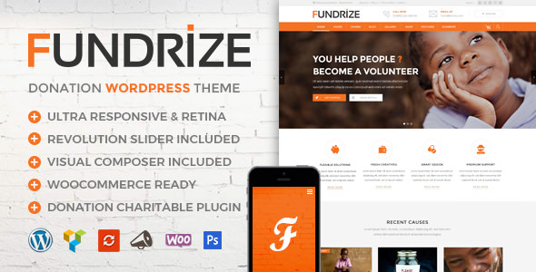 Fundrize v1.4 - Responsive Donation & Charity WordPress Theme