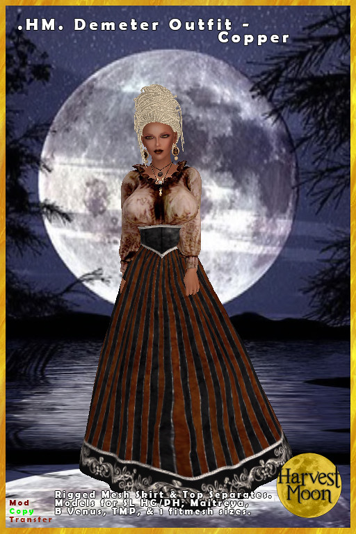 Harvest Moon - Demeter Outfit - Copper - TeleportHub.com Live!