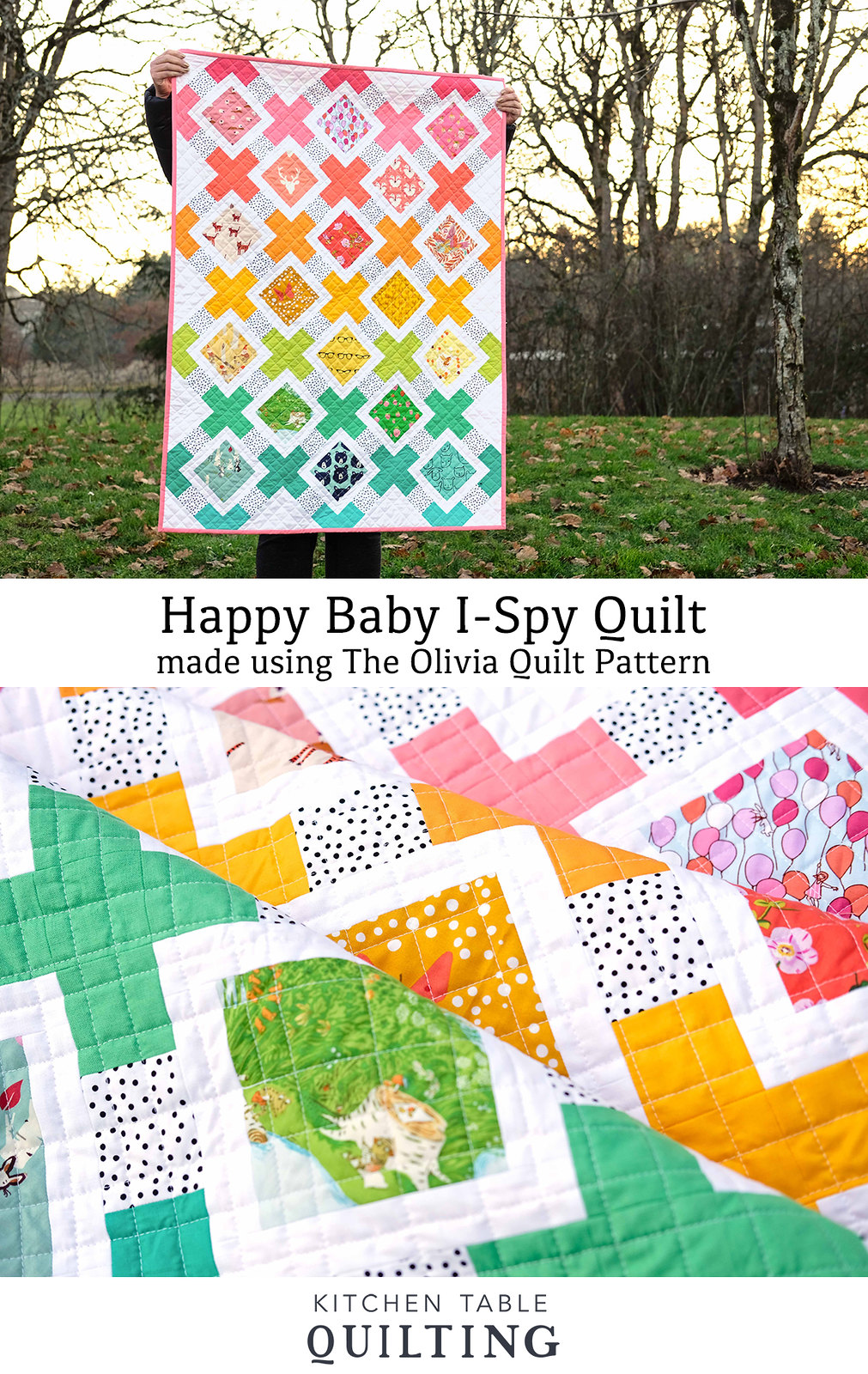 Happy Baby I-Spy Olivia Quilt - Kitchen Table Quilting