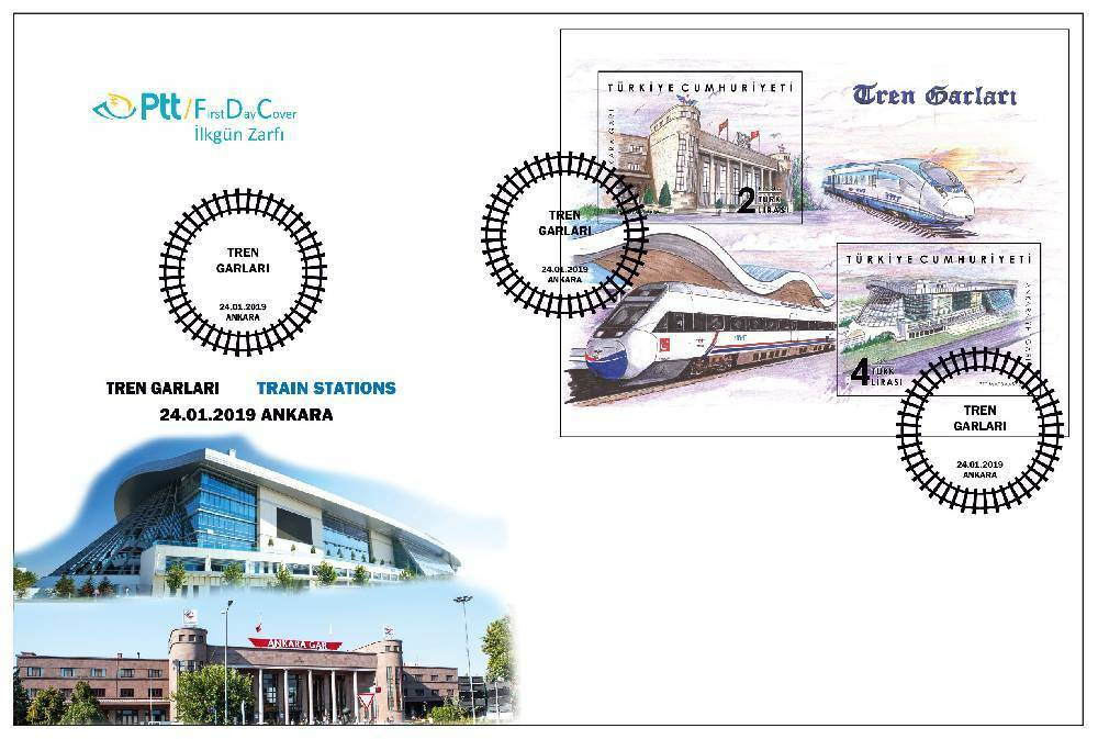 Turkey - Train Stations (January 24, 2019) first day cover