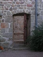 20080901 28934 1002 Jakobus La Chapelle Pilgerherberge Tür Tor