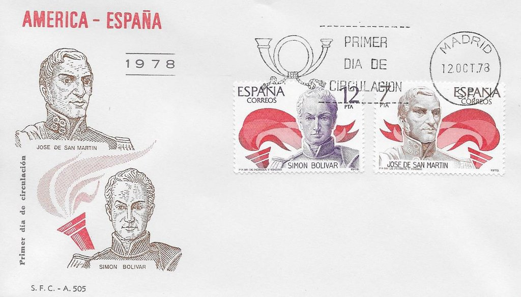 Spain - Scott #2116-2117 (1978) first day cover
