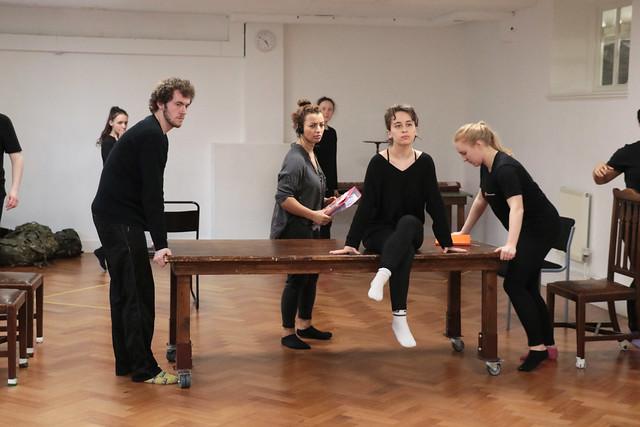 Henry V Classical Season rehearsals