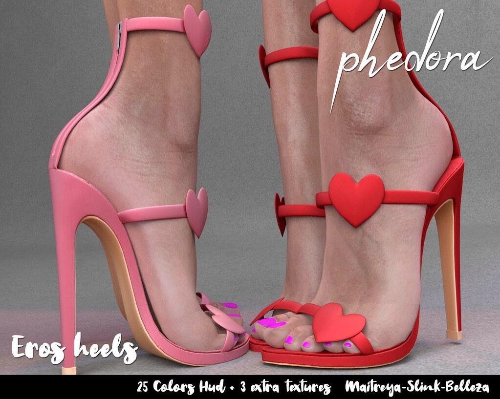 "Phedora. for Cupid Inc. ~ ""Eros"" heels ♥"